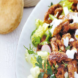Shoarma met rijkgevulde salade